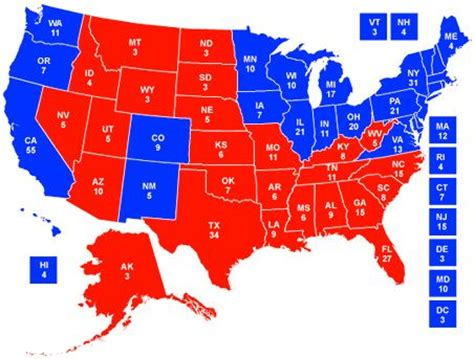 Us Delegates By State 2012 Landslide Potential 171 Theblackberryalarmclock