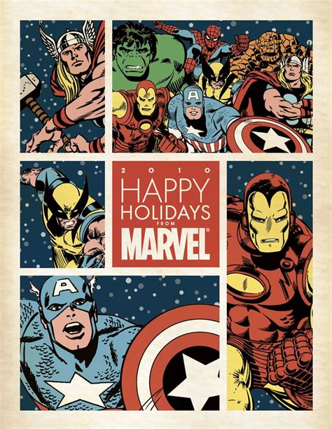 Happy Holidays Dc Nearlyweds by Happy Holidays From Marvel
