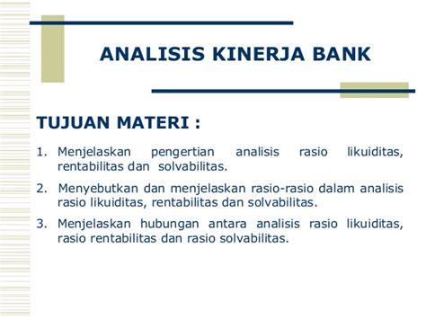 Analisis Kinerja analisa kinerja bank