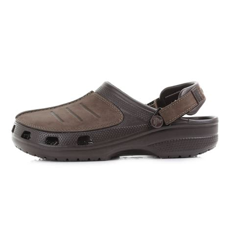 mens crocs sandals mens crocs yukon mesa espresso leather clogs sandals shu