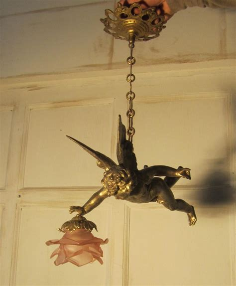Pendant And Chandelier Lighting A Pretty French Ormolu Cherub Ceiling Pendant 244047