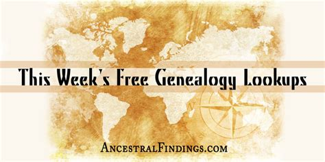 Free Scottish Birth Records This Week S Free Genealogy Lookups Ancestralfindings