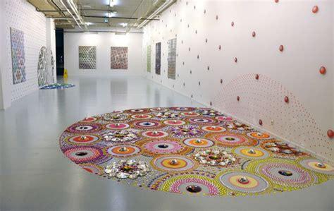 designboom installation suzan drummen kaleidoscopic crystal floor installations