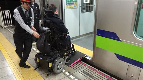 the or subway in japan in a wheelchair