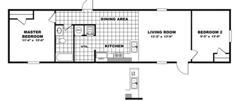 Tru The Dempsey 14x56 Mfg Mobile Home For Sale Tru Manufactured Homes Floor Plans