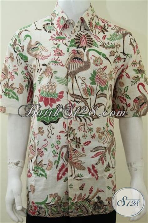 Celana Katun Motif Bangau hem baju batik laki laki ukuran xl bagus motif burung