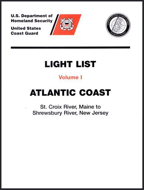 Uscg Light List by U S Coast Guard Light List