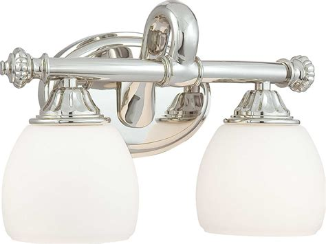 Polished Nickel Vanity Lights by Metropolitan Lighting Polished Nickel Two Lights Vanity