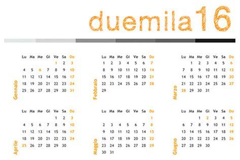 Calendario A Settimane 2015 Calendario 2016 Annuale Da Scaricare Gratis In Pdf