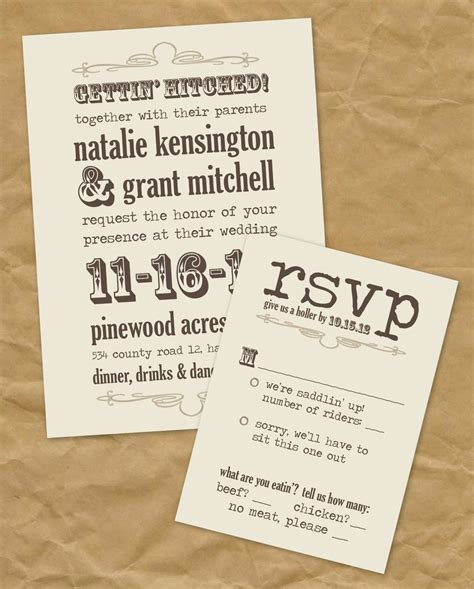 western wedding invitation ideas wedding invitations for a country wedding country