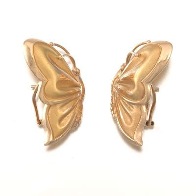 Paper Weight Butterfly 03 Small Dec66 Gold gold pair of butterfly earrings 02 19 16 sold 159 3