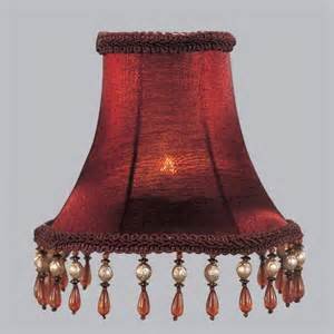 Clip chandelier shade with amber beads in red shades at hayneedle