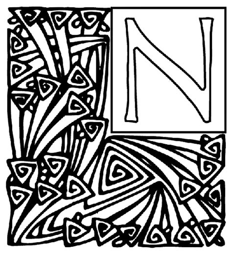 crayola coloring pages letters alphabet garden n coloring page crayola com