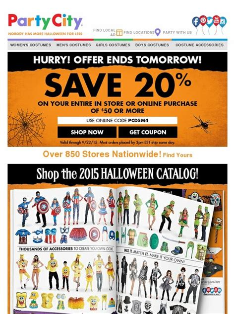 party city save  shop  halloween catalog milled