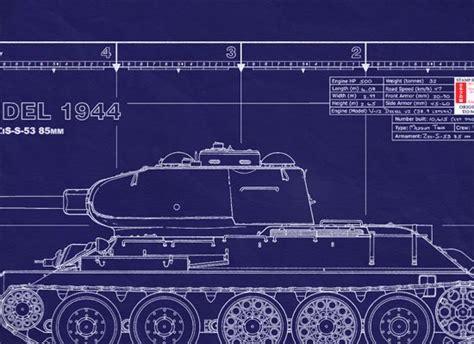 Soviet Medium Tank T-34/85 Model 1944   WW2 Tanks / Soviet ... T 34 Blueprints