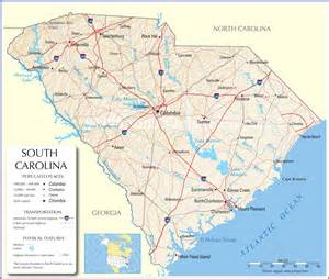 South Carolina State Map by South Carolina Map South Carolina State Map South Carolina