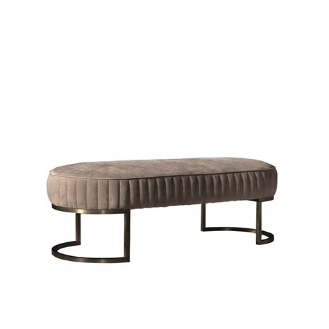 leather seating bench touched d amphora leather brass bench seat