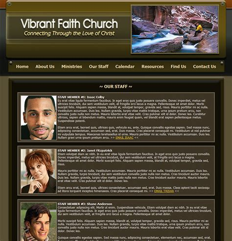 Church Web Templates by Church Website Template Church Web Template Christian