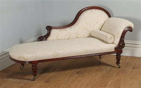chaise longue in english english victorian mahogany chaise longue antiques atlas