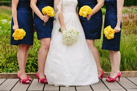 navy bridesmaids dresses with pink shoes elizabeth
