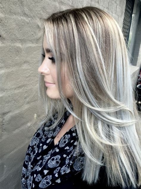 ashblond with silver highlites short hair balayage ash blonde by essie hair and makeup hair