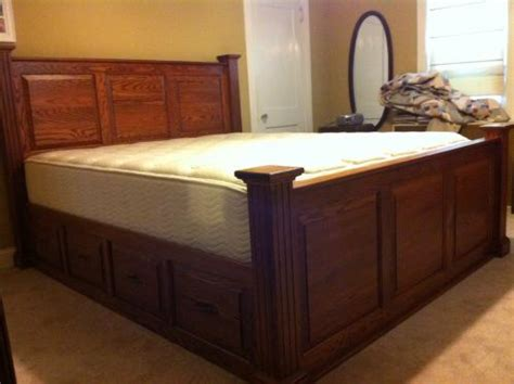 king captains bed deluxe raised panel cal king captains bed harolds shop