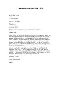 Prenatal Cover Letter by Exle Letter To Employer Informing Of Pregnancy Cover Letter Templates