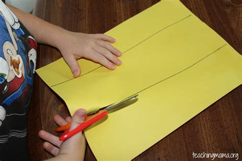 How To Make Scissors Out Of Paper - scissor cutting stations teaching