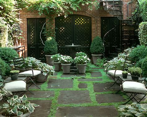Courtyard Garden Apartments by Sawyer Berson Townhouse Garden On Perry Nyc
