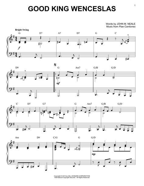 printable lyrics good king wenceslas good king wenceslas sheet music direct