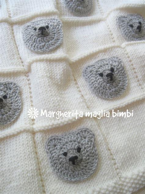 copertine per culla a maglia copertina orsetti baby neonato copertina culla in pura