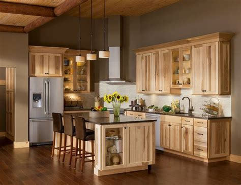 gray floors with hickory cabinets 10 amazing modern hickory kitchen cabinets for your home