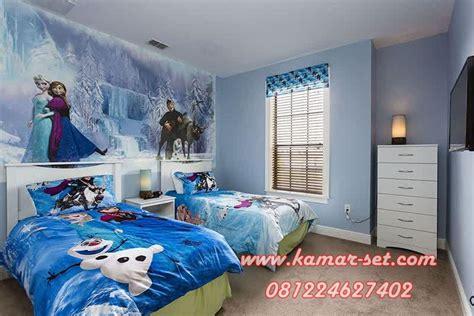 tempat tidur anak perempuan set kamar tidur frozen