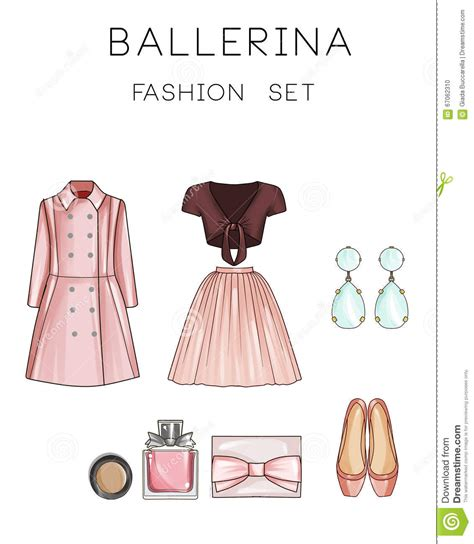 fashion illustration accessories raster fashion illustration set clip set of s clothes and accessories stock