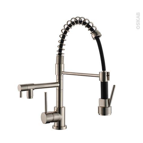 fixation robinet evier robinet de cuisine missouri mitigeur avec douchette inox