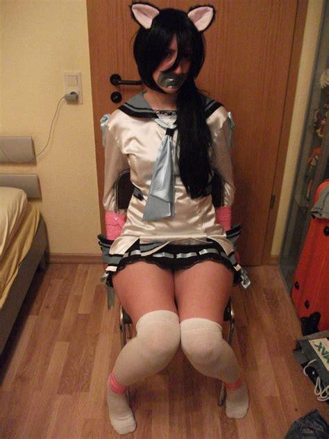schoolgirl tied bound school girl chair bound againe by natsuko hiragi on deviantart