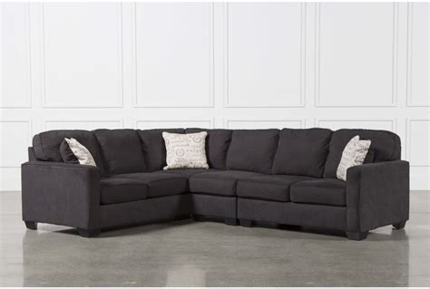 teppermans sectionals alenya charcoal 3 piece sectional w raf loveseat living