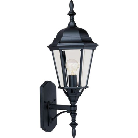 Outdoor Lighting Wall Mount Maxim Lighting Westlake Outdoor Wall Mount 1003bk The Home Depot