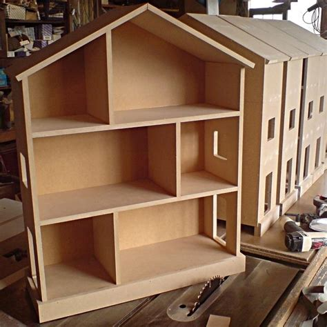 handmade barbie doll house small handmade childrens nursery dolls house bookcase shelves unpainted doll house