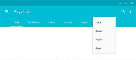 material design html it tabs components material design