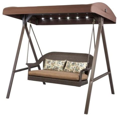 hton bay outdoor swing hton bay porch swings led all weather wicker patio