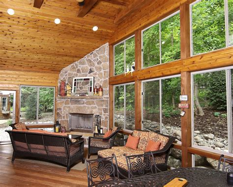 4 Season Porch Ideas 4 Season Porch On Screened Porches Fireplaces