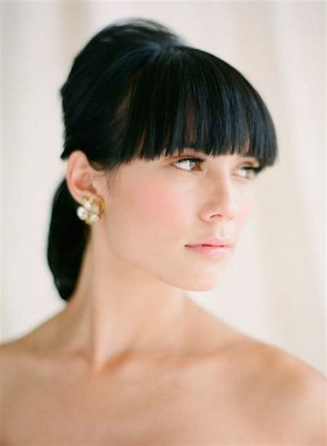 ways to put a bob in a ponytail 30 ways to style short hair for your wedding bridal musings