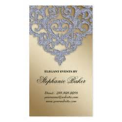 event planner business card ideas wedding event planner damask silver sparkle gold zazzle