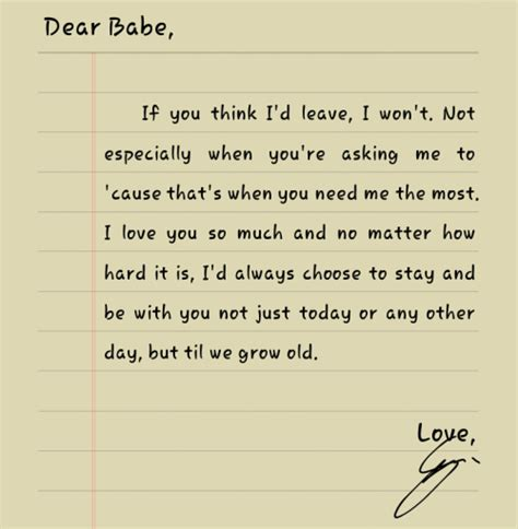 Letter Quotes For Boyfriend Dear Boyfriend On