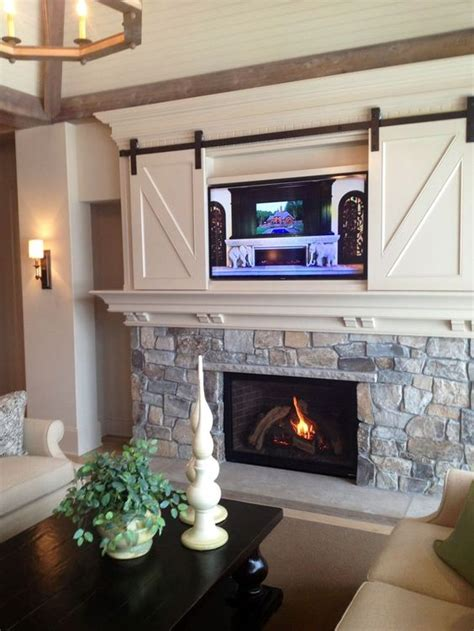 Sliding Fireplace Doors by 50 Ways To Use Interior Sliding Barn Doors In Your Home
