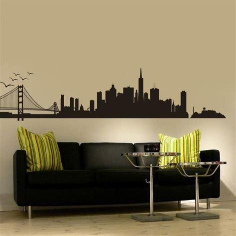 san francisco home decor amazon com san francisco city skyline silhouette wall