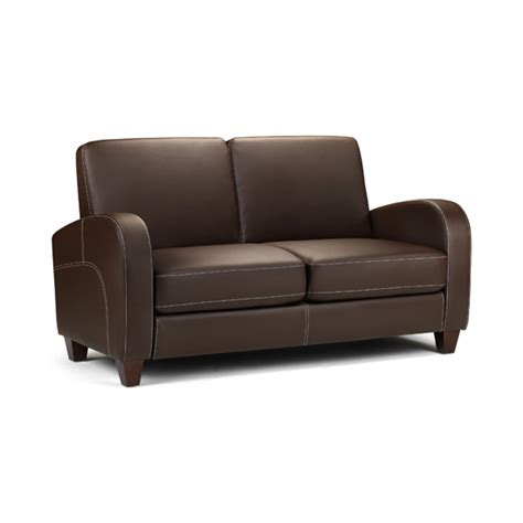 Faux Leather 2 Seater Sofa Vivo 2 Seater Sofa In Chestnut Faux Leather 8929 Furniture
