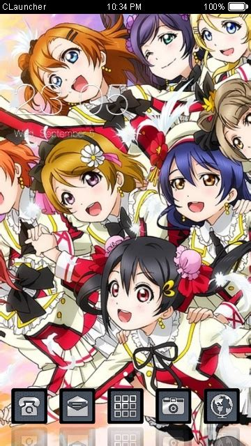 theme google love live download love live theme for your android phone clauncher