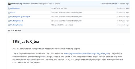 readme template trb template